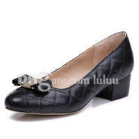 Wholesale Stylish Pumps - women pumps buckled platforms shoes spring and autumn stylish casual bottom High Quality shoes flats Office & Career Bowtie women Sexy shoe