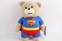 ingrosso bambola di orsacchiotto-2016 The Film Teddy Bear Ted 2 giocattoli peluche in grembiule Inghilterra Love Maglione 40 cm animali di peluche Ted Bear bambole di peluche
