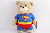 Wholesale Ted Stuffed Animal Bear - 2016 The Film Teddy Bear Ted 2 Plush Toys In Apron England Love Sweater 40CM Soft Stuffed Animals Ted Bear Plush Dolls