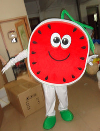Wholesale Watermelon Fancy Dress - holiday watermelon mascot costume fancy party dress suit carnival costume with free shipping