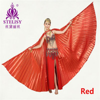 Wholesale Isis Gold Dance Wings - 11 colors for chosen Egyptian Egypt Belly Dance Wings Costume Isis Dancing Wear Accessories (no stick)