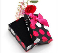 Wholesale Nice Colorful Jewelry - Top quality Square Colorful pretty presents boxes with a bowknot nice gifts,can mix color