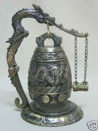 Brass dragon Bell online shopping - Tibet Bronze Buddhist Dragon Singing Bell