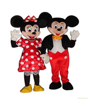 Wholesale Wholesalers Mascot Fancy Dress - New Adult Mickey & Minnie Couple Mouse Mascot Costume Fancy Party Dress