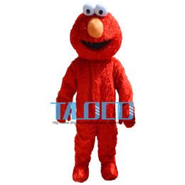venda por atacado Alta qualidade Vila Sésamo Red Elmo Monstro traje da mascote Dos Desenhos Animados do Vestido Extravagante