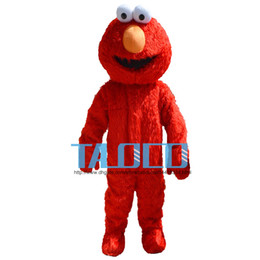 Disfraz de mascota de alta calidad Sesame Street Red Elmo Monster Cartoon Fancy Dress