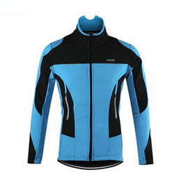 Wholesale Cycling Team Jerseys Cheap - New Red ARSUXEO Winter Summer Cycling Jackets Clothes 2016 Cheap Custom Reflective Pro Team Bike Bicycle Jerseys Woman Man Clothing Wearing