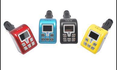 5 kleuren Draadloze auto MP3 FM-zender Bluetooth-auto MP4-speler USB-poort met afstandsbediening Ondersteuning SD / MMC / USB-poort