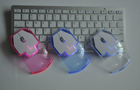 Wholesale Cheap Wireless Accessories - Cheap wholesale wireless mouse creative cute USB wireless mouse fashion computer accessories transparent wireless mouse 3 color high quality