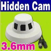 Wholesale Wholesale Vandal Cameras - Promotion Smoke Detector Household Fixed Color CCTV 420 TVL DVR Hidden Sony CCD Pinhole Spy Camera