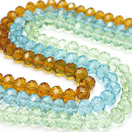 Wholesale Rondelle Beads Blue Wholesale - Jewelry accessories 90pcs luster mix color 10mm Swarovski crystal Rondelle Loose Beads,wholesale