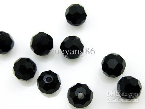 60шт очарование черный 10 мм Swarovski Кристалл свободные Rondelle бусины,делая все виды ювелирных изделий