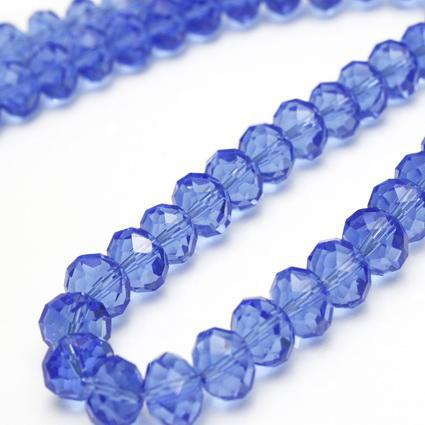 40st Charm Sky Blue Faceted 10mm Shiny Crystal Losse kralen, gemaakt in China
