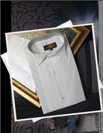 Wholesale White Groom Dress - Brand New Groom TuxedS Shirts Dress Shirt Standard Size: S M L XL XXL XXXL Only Sell $20