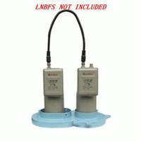 Wholesale antenna c resale online - 10 Degree C Band Dual LNB Bracket Dual Satellite LNB Bracket LNBF Holder for prime focus antenna