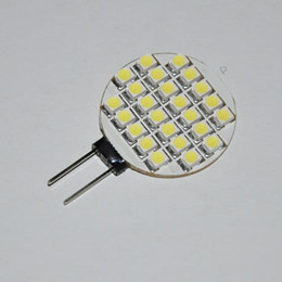 Wholesale 24 Volt Led Lighting - Car light G4 24 SMD LED Pure White Marine Light Bulb Lamp 12 Volt G4-24SMD for sample 2pcs lot