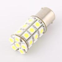 Wholesale Pure White 1156 - 1156 Pure White 27 LED 5050-SMD Car Vehicle Corner Parking Tail Bulb Light for sample 2pcs lot free shipping