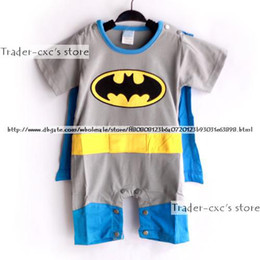 Wholesale Super Man Baby - Baby One-Piece baby Rompers kids' romper bat man Costume baby clothes super man