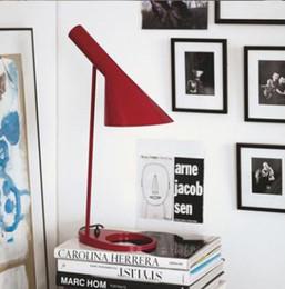 Wholesale Louis Poulsen Lamps - Louis Poulsen AJ table Lamp multicolor for choice design by Arne Jacobsen Red Blue White Yellow
