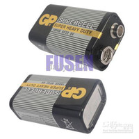 Wholesale Super Heavy Duty Batteries - wholesale free shipping New GP 9V 1604S 6F22 BATTERY SUPER HEAVY DUTY SUPERCELL