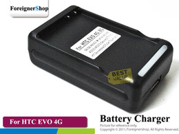 Wholesale Evo 4g Battery - For HTC EVO 4G Legend Wildfire Desire Z Battery Wall Charger Docking With USB Output 55 pcs lot