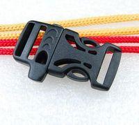 Wholesale paracord whistle buckles resale online - 500pcs Emergency Survival WHISTLE BUCKLES FOR PARACORD BRACELETS