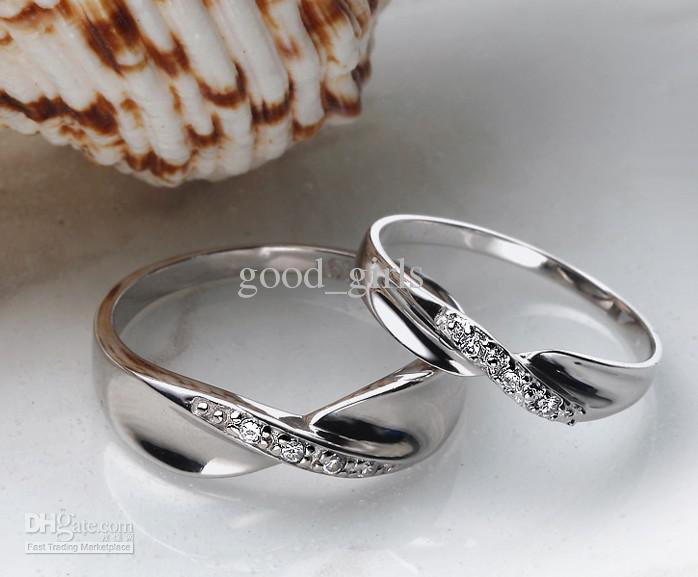 2018 925 Silver Couple Ring Swiss Diamond Ring Married The Ring