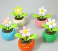 Wholesale Solar Flower Gifts - 50pcs lot solar power flower flip flap solar flower GIFT