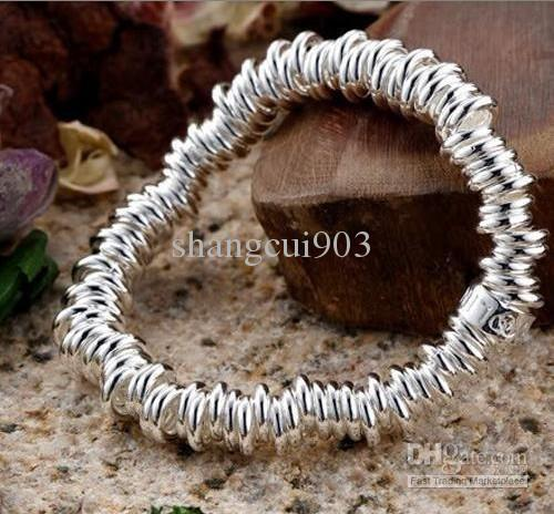 New style 925 Silver hundred Circls chain Bracelets brand new 10 items