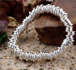 Wholesale Branded Gift Items - New style 925 Silver hundred Circls chain Bracelets brand new 10 items per lot