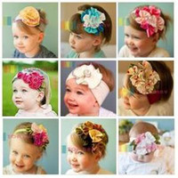 correa de pelo bebé al por mayor-Correa de pelo de las niñas lindo bebé lazos del pelo venda del bebé del pelo del bebé banda de pelo trenza infantil
