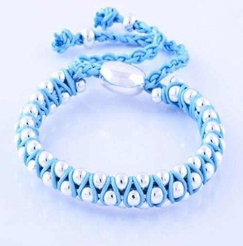 Brandneu 925 Silber ROT Knit Freundschaft Armbänder passen Nette Perlen Charme Armbänder Li053