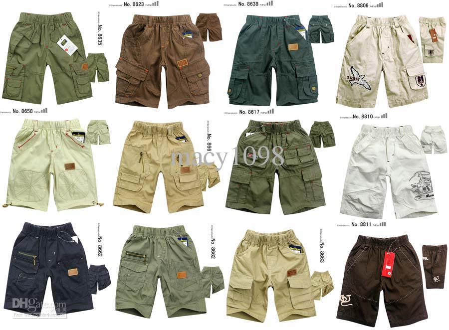Wholesale Kids Mix Cargo Shorts Boys Summer Pants Cotton Clothing ...