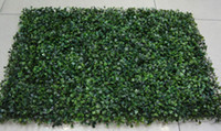 Wholesale sell wedding bouquets - HOT SELLING Artificial plastic boxwood mat 40cm*60cm Free shipping UV PROTECTED