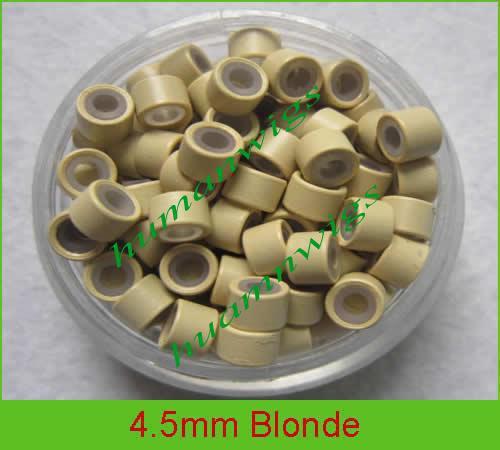 머리 확장, 머리 연장 tools.Blonde, 믹스 컬러에 대한 4.5mm 실리콘 마이크로 링 링크
