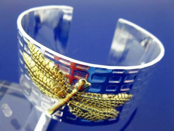 Super gioielli regalo XMAS 925 Silver Widen Bracciale bangle da donna, misura bangle placcato oro