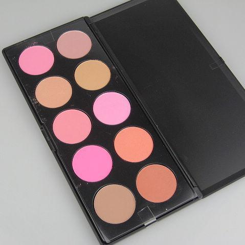 Le maquillage professionnel 10 couleurs de fard à joues Palatte a pressé le blush de poudre et la poudre gracieuse / paquet