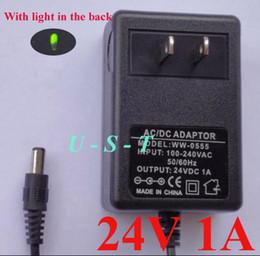 Canada Haute Qualité AC 100-240 V à DC 24 V 1A Adaptateur de Puissance Adaptateur 24 V adaptateur US Plug 50 pcs / DHL Livraison gratuite Offre
