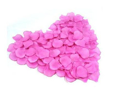 2000 pcs lot nice colorful heart silk rose petals wedding favors&FREE SHIPPING