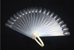 Wholesale Fans Tips - 20 tips Fan-Shaped Nail Art Display Clear Chart for Polish Gel Display Tool