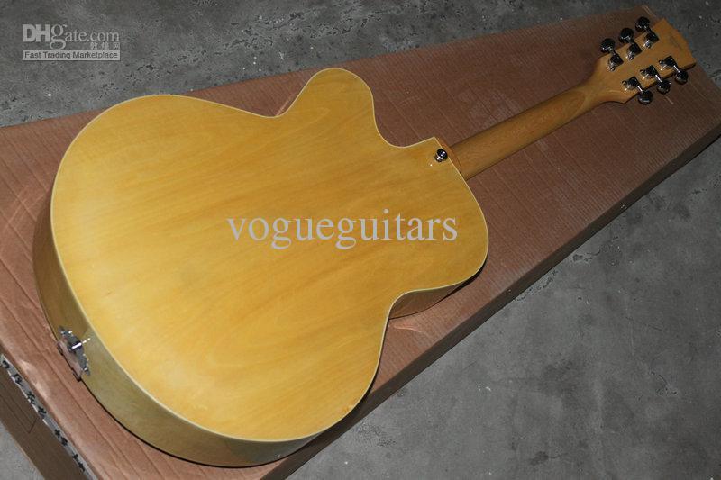 Groothandel gitaar Zeer mooie hout kleur burl classic jazz gitaar gratis verzending