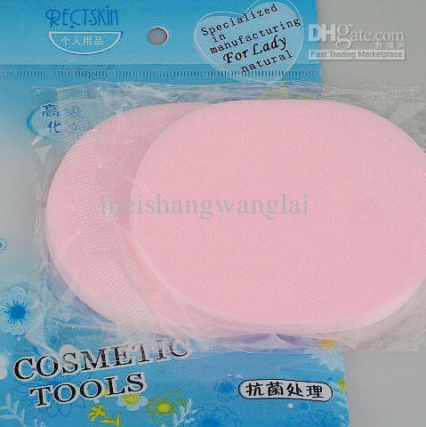 24 stks Gezichtsreiniging PVA-bladerdeeg Cosmetische poederwolk make-up compries bladerdeeg spons voor gezicht 8 mmthicknes