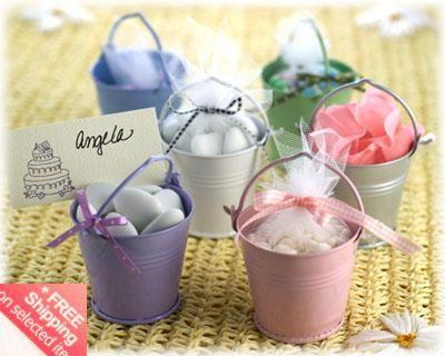 / ! Bomboniere in latta rosa Bomboniere, Bomboniere mini secchiello, secchielli mini, scatola di caramelle di latta