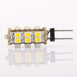 Wholesale G4 Led 12 V - Car light G4 25 SMD LED Warm White Marine 25SMD Light Bulb Lamp 12 V G4-25SMD 10pcs lot