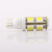 Wholesale 12vdc Car Light - T10 W5W 194 168 Pure White 9 5050-SMD LED Parking Tail Car Light Bulb 12VDC 2pcs lot for sample free shipping