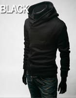 kore fermuarı toptan satış-SıCAK monde Kore geri shool Eğik fermuar erkek Hoodie erkek Ceket erkek Ceket 4 renkler siyah artı boyutu erkek mont