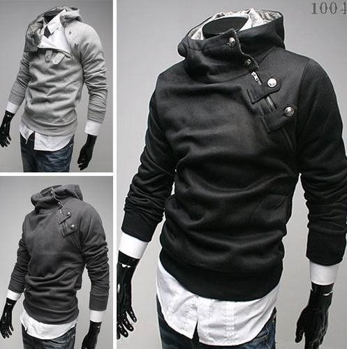 Monde Güney Kore erkekler Hoodie Rider koyu gary erkek Ceket Kaban Ter Gömlek Boyutu: M / L / XL / XXL 1171