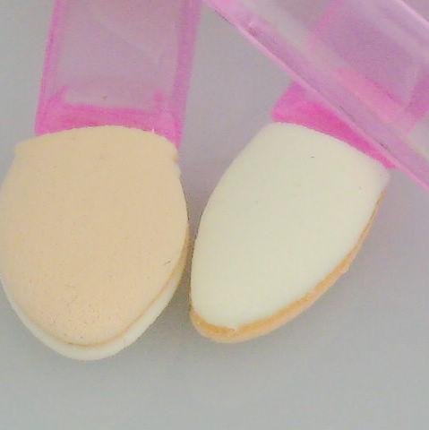 /Eye Shadow Makeup Brush Sponge Applicator Tool -Dual Ended Pink Plastic handle 56 mm R641