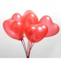 Wholesale Wholesale Balloon Inflator - 100 Pcs Red Heart Shape Latex Balloon + 100 Pcs Stick & Cup + Inflator Pump Party Home Decoration