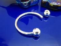 ingrosso canali di perline-Le nuove catene chiave d'argento del nuovo arrivo 925 adattano le catene chiave aperte dei branelli 30pcs / lot